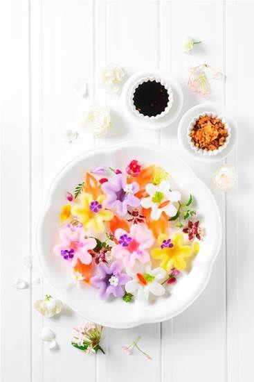 ขนมถ้วยเค็มสีดอกไม้