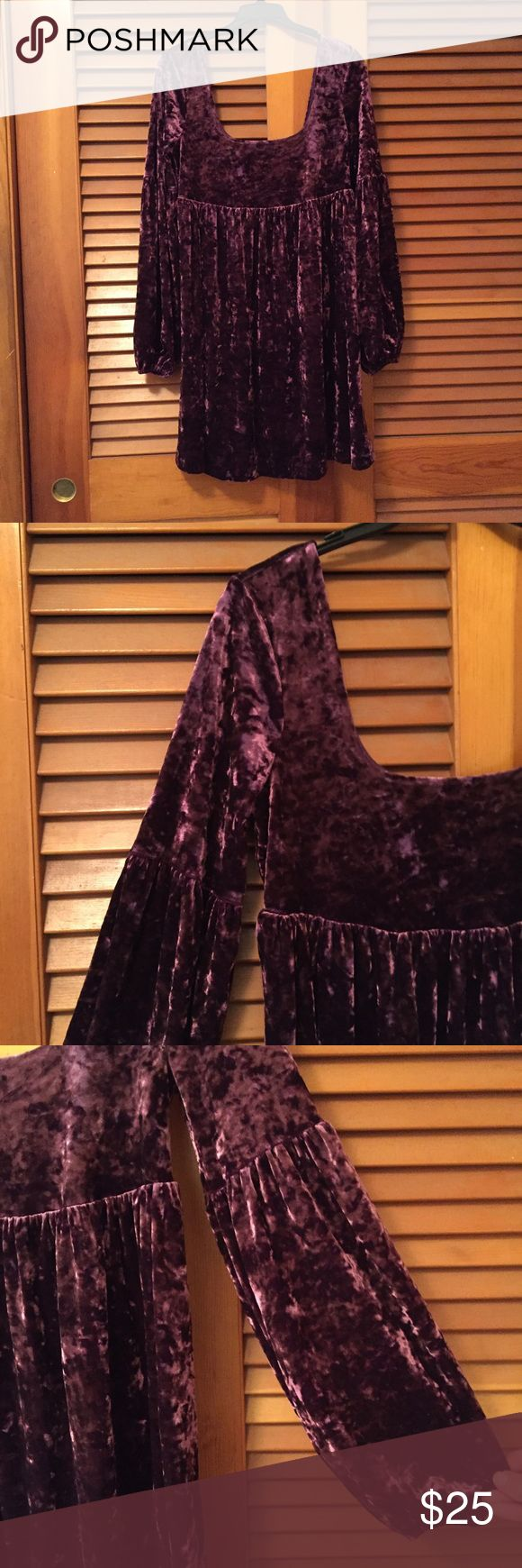 FP stretch velvet solid Oh So Easy babydoll dress Beautiful Free People stretch velvet solid Oh So Easy babydoll dress. Great for the upcoming festival season and summer months. In excellent condition. Price is firm. Free People Dresses
