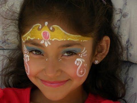 Pintacaritas de princesa face painting princess - Pinturas de cara para ninos ...