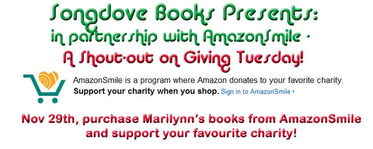 It's #GivingTuesday! Support your favourite #charity by visiting my website: http://wp.me/P3IQLk-aJ to purchase a book via #AmazonSmile!