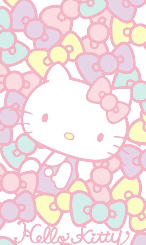 Image via We Heart It #kitty #pattern