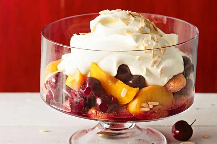 Summer fruit trifle - delicious.