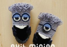 Evil Minion Baby Booties Crochet Pattern by Kittying