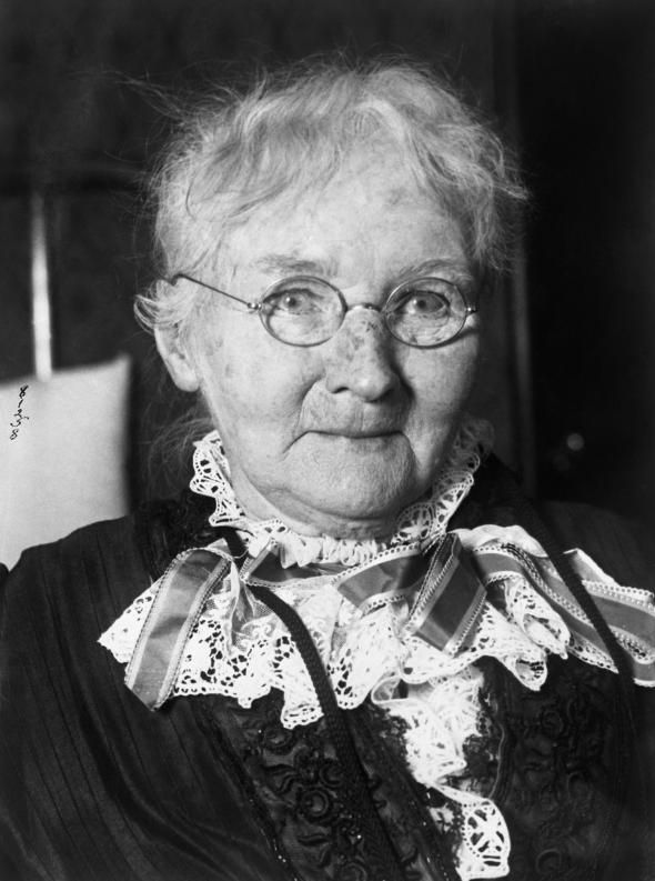 """Mother"" Mary Harris Jones... Irish immigrant who lost her family to yellow fever and became the self-proclaimed mother and ""hell-raiser"" for the downtrodden American laborer, especially children."