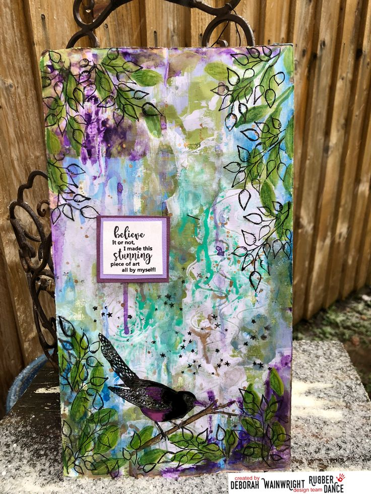 * Rubber Dance Blog *: Upcycle a packaging - Mixed Media style