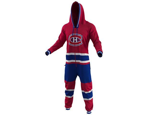 Pyjama une pièce des Canadiens de Montréal