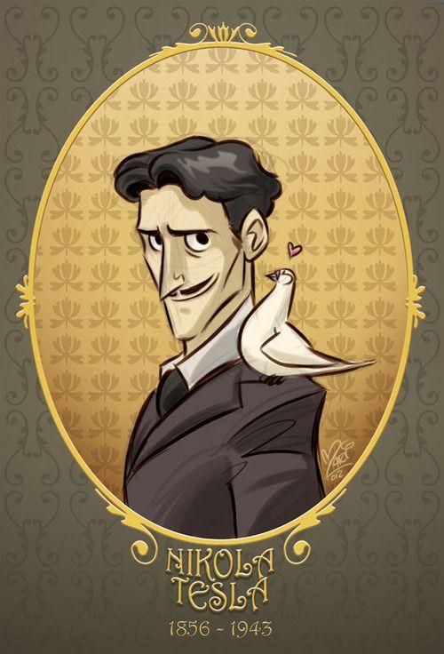 steampunksteampunk: Nikola Tesla by Mariana Moreno, ~marimoreno marimoreno.deviantart.com