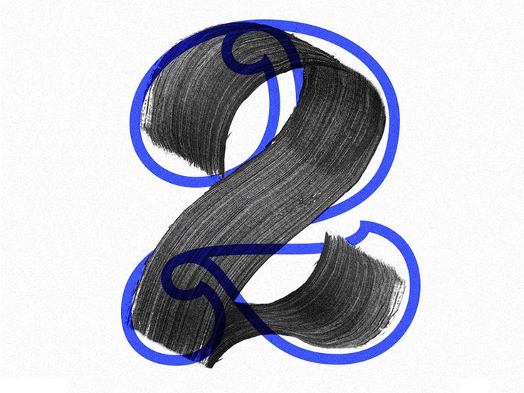 22, experiment with numeral typography and brushstrokes, by  Luke Ritchie