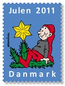 Danish Christmas seal  -- I wish I knew someone in Denmark....