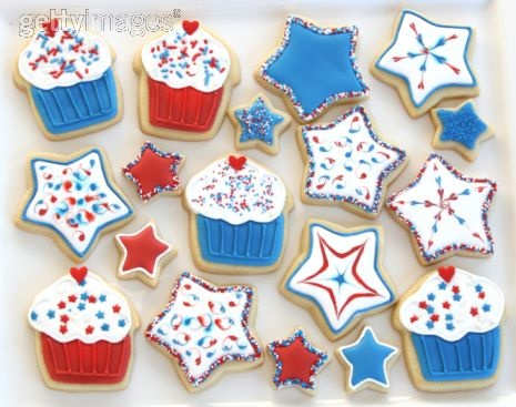 Fourth Of July Cookies: Baking Treats, Fun Recipe, July Treats, Fourth Of July, Decor Cookies, 4Th Of July, Festivals 4Th, July Cookies, Independence Day
