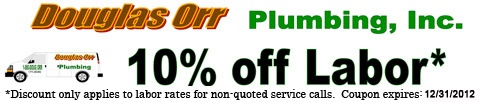 We hope everyone had a blessed Christmas! In case you need plumbing repairs due to garbage disposal problems or drain clogs, take advantage of our 10% savings coupon!