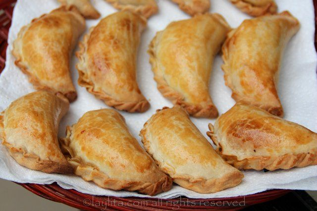 "Freshly baked homemade empanadas, found this recipe online and its literally the easiest way to make ""baked"" not ""fried"" empanadas and they are delicious .... enjoy :)"