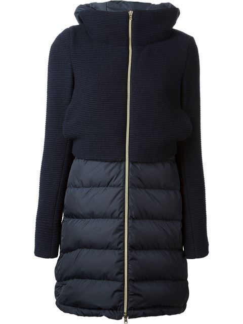 Shop Herno panelled coat