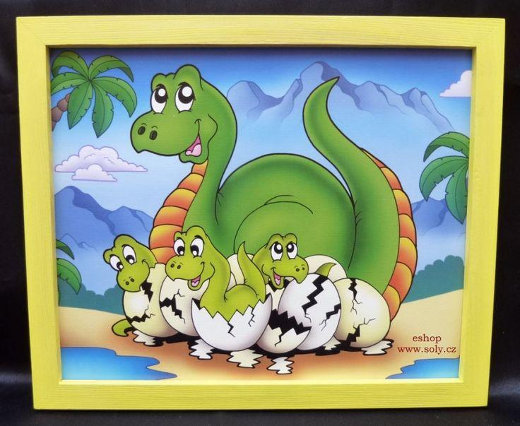 kreslene obrazky zviratek v ramu brontosaurus pravek. 249,-  Kč eshop www.soly.cz