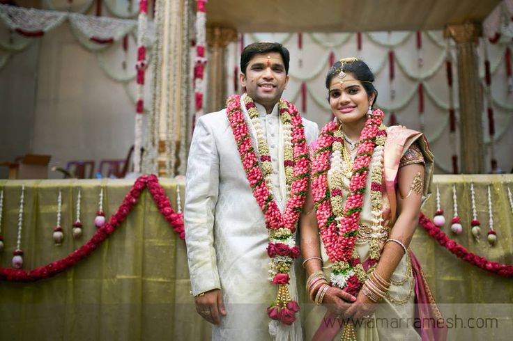 Traditional pink garland for the bride and groom.  #southIndianwedding #bride #garland #tradition #decor #jewellery #traditionalweddingclothes