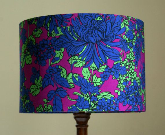 Retro Floral Lampshade by CarrickMade on Etsy, £30.00