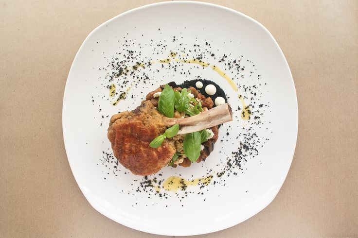Veal Chop Milanese, the first of our 3 course Italian meal for the month of July... http://www.mouthfool.com/2014/07/veal-chop-milanese-eggplant-burrata-olives-garlic-cream/ #italianfood, #veal, #recipe