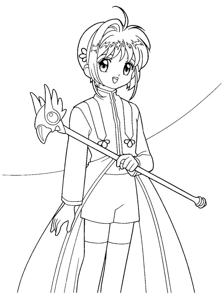 1000 images about card captors sakura coloring pages on for Card coloring pages