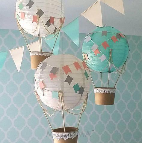 Caprichoso aire caliente globo decoración DIY kit vivero de