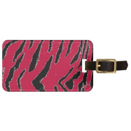 Red Tiger Fur Luggage Tag - tap to personalize and get yours