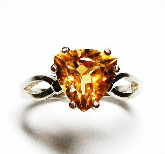 Citrine ring birthstone ring solitaire ring by Michaelangelas, $39.50