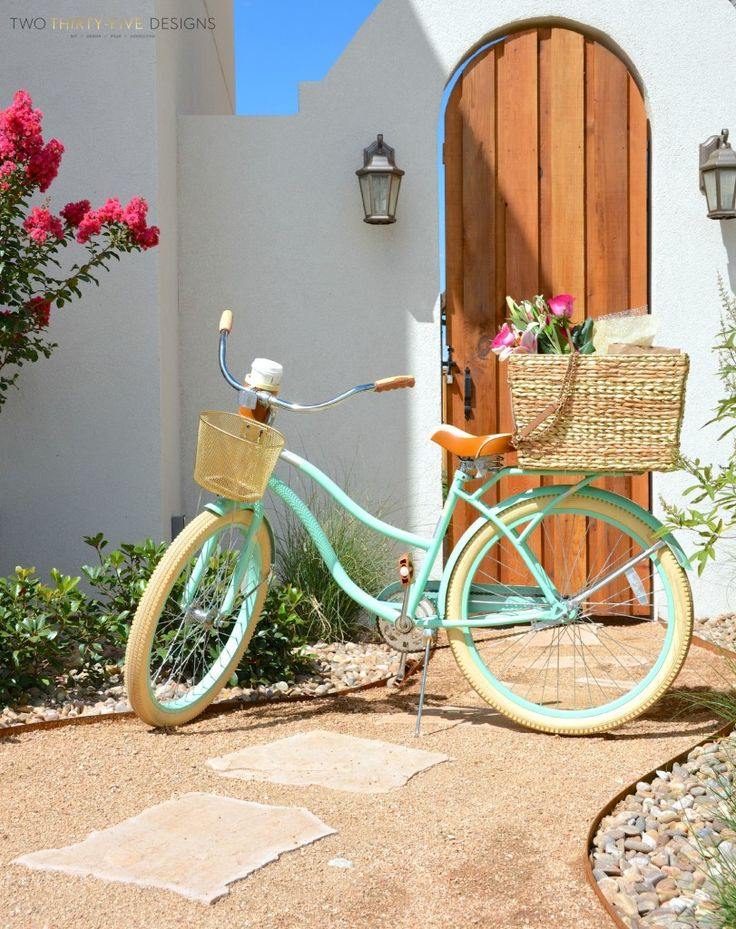 Simple Seagrass Bike Basket by Two Thirty~Five Designs