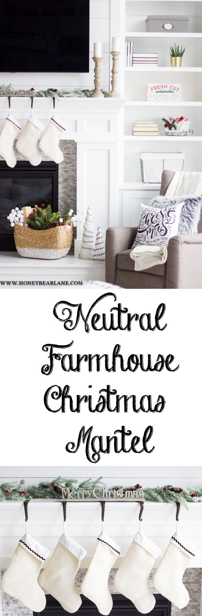 This year I wanted a more farmhouse Christmas mantel and I achieve the look with a few simple and inexpensive purchases from Hobby Lobby. @hobbylobby #hobbylobbyfinds #ad #hobbylobbyholiday