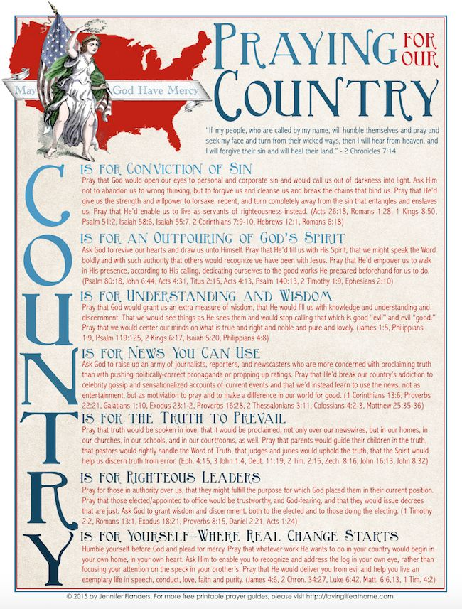 Praying for Your Country Prayer Guide