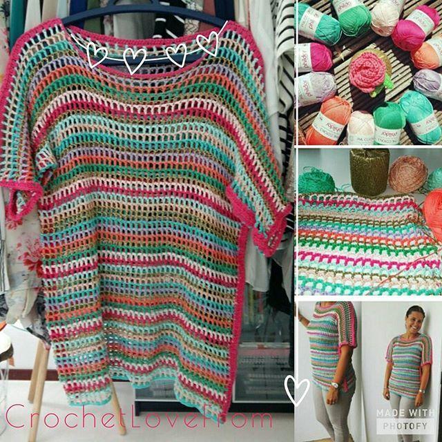 Cant wait to wear this one again it still makes me happy  #crochetlovefrom #haken #crochet #virka #hakeln #instacrochet #craftastherapy #hekle #tomelooshaken #hakeniship #yarnlover #sparkle #phildaraddict #crochetlover #crochetersofinstagram #crochetlove #kleurrijk #colorfulcrochet #hakenenkleur