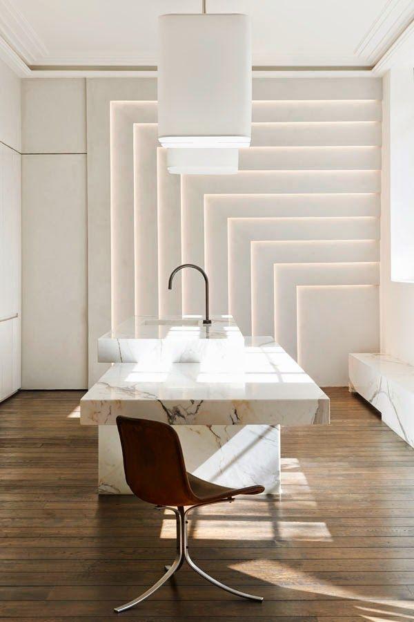 Kitchens Inspiration, Showroom Kkdc Obumex, Joseph Dirand, Paris Showroom.