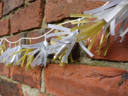 Silver and gold tissue tassels from the metallic collection  Handmade paper…