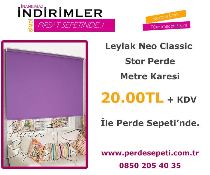 Leylak Neo Classic Stor Perde Metre Karesi 20.00 TL + KDV İle Perde Sepeti' nde! Sipariş Vermek İçin Linki Tıklayın -> http://bit.ly/20Zwclj