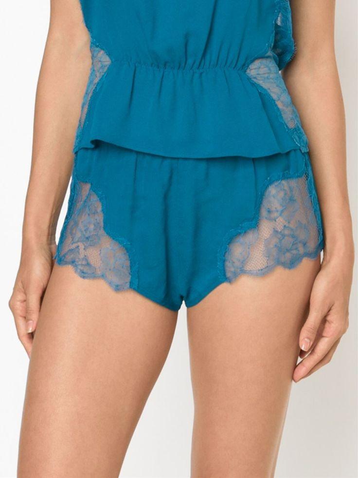Fleur Du Mal Shorts De Pijama De Seda - Fleur Du Mal - Farfetch.com