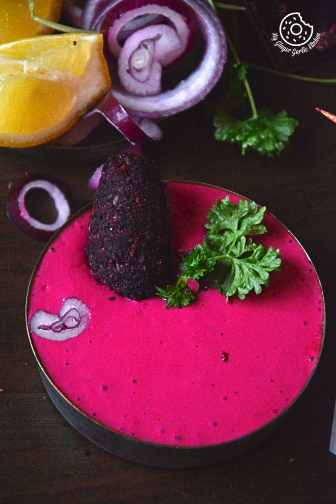 Roasted Beet Kebab with Beet Dip   Video