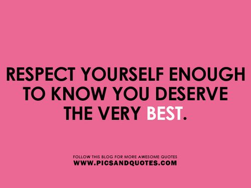 RESPECT YOURSELF - rePinned by ohhowsheblooms.com