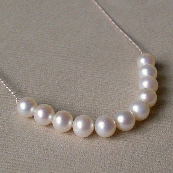 Childrens Real Pearl Necklace Real Fresh Water by PamelaCurran