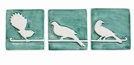 Birds & Koru Triptych Tiles