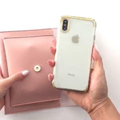 Smartphone Crossbody Bag in Soft Pink