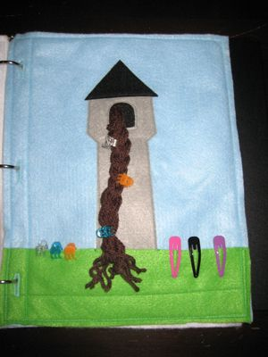 Rapunzel - creative quiet book page idea! Featured by www.speciallearninghouse.com.
