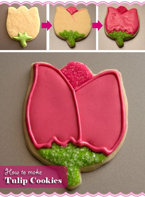Step-by-step tutorials on how to make and decorate gorgeous flower cookies