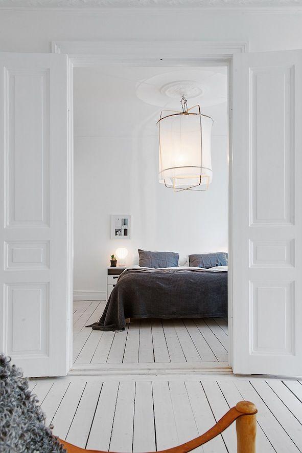white floor, bedroom