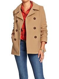 Women's wool blend pea coat (price previously stated)