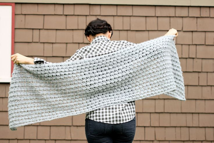 Crochet Shawl Scarf (Free Pattern)