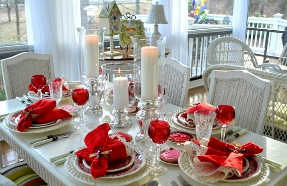 1000 images about valentine tablescapes on pinterest - Valentine s day table setting ...