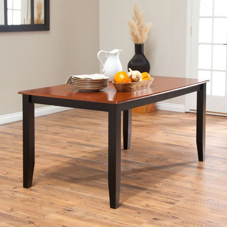 Solid Hardwood Two Tone Cherry / Black Dining Table   Seats Up To 6