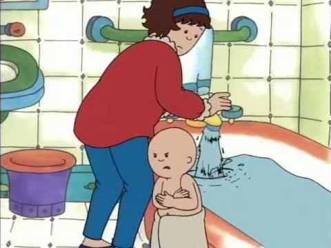 caillou prend son bain.avi - adorable!