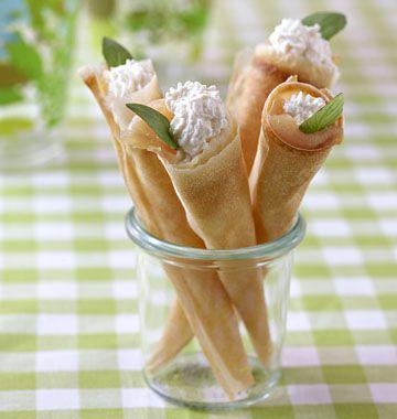 Cornets de saumon fumé et ricotta - Recettes de cuisine Ôdélices