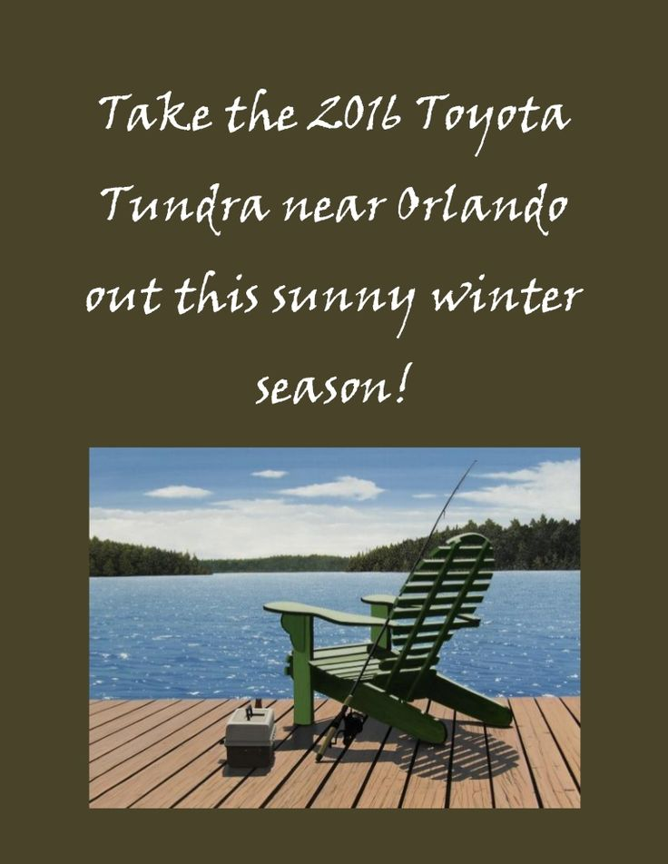 It's still warm in December this year! Take advantage with the new 2016 Toyota Tundra and have an awesome adventure!