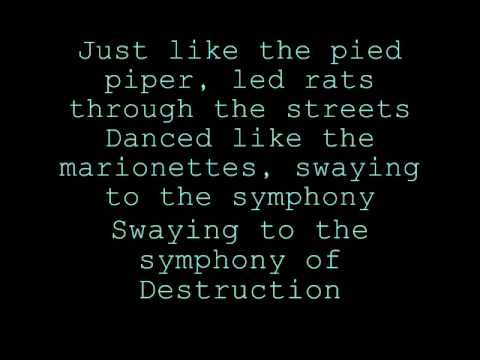 megadeth symphony of destruction lyrics | Megadeth Symphony of destruction with lyrics - YouTube