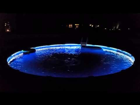 Above ground color changing pool lights